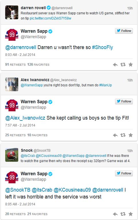 Sapp Tweets